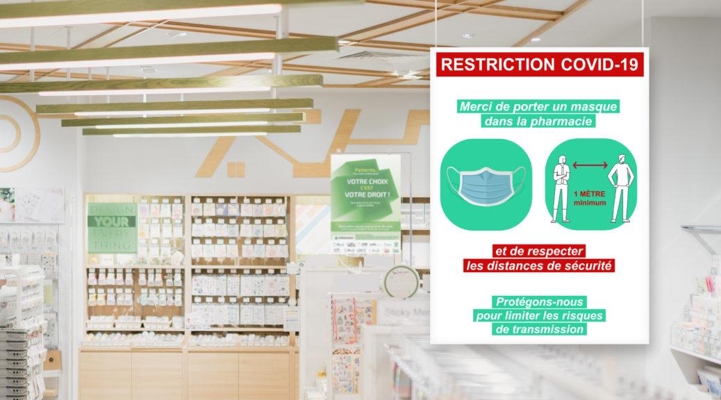 Panneaux informatif COVID pour magasins